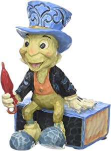 "Enesco Disney Traditions by Jim Shore Pinocchio Jiminy Cricket Miniature Figurine, 2.75"", Multicolor"