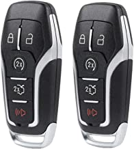 Keyless Entry Key Fob Case Shell for Ford Edge Explorer Mustang Fusion 2015 2016 2017 (M3N-A2C31243300) 5 Button(Pack of 2)