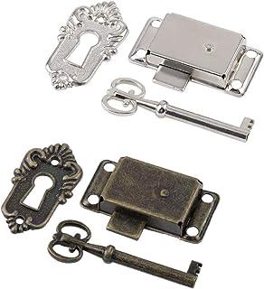 INCREWAY 2 juegos de cerradura para puerta de armario con llaves de esqueleto, fácil instalación y hermoso, 2 colores