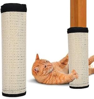 White Scratching Post Furniture Pet Table Leg Sofa Sisal Scratcher Pad, Sofa Scratcher Mat Table Leg Sisal Scratch Protec...