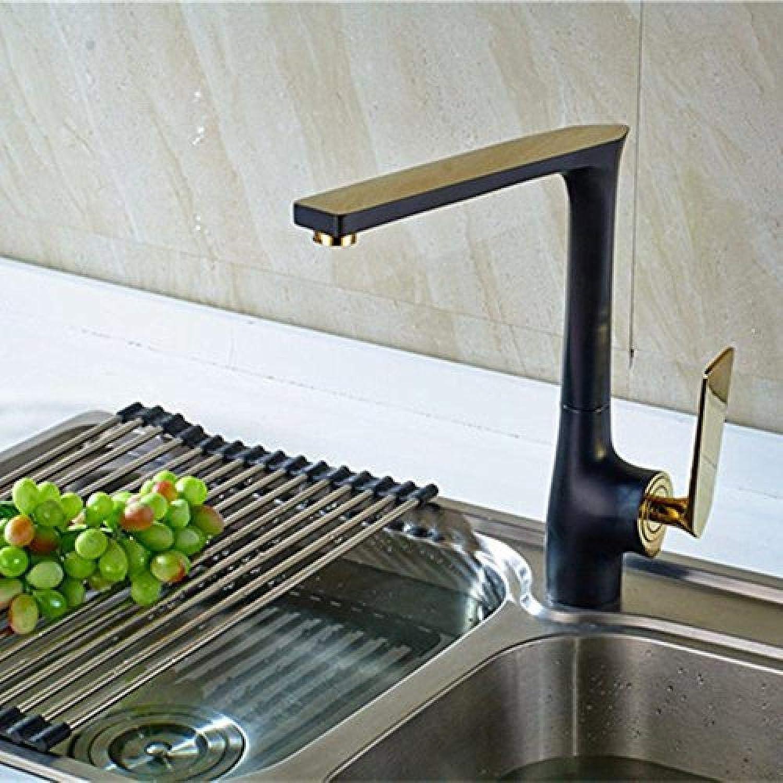 Honcx Wasserhahn Antike Wasserhahn Schwarz Bronze Küchenarmatur Heie Und Kalte Mischventil Voll Kupfer Becken Wasserhahn Einhand-Wasserhahn