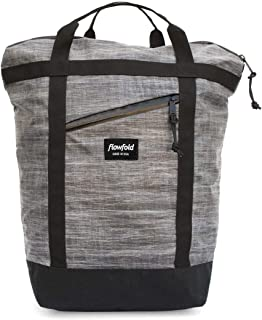 Flowfold Denizen 18L Minimalist Commuter Backpack - Ultralight Tote Backpack, Water-Resistant, Made in USA Laptop Backpack (Heather Grey)