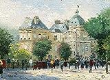 Cwanmh Pintura de Paisaje Jardín de Luxemburgo Decoración del Hotel Imagen de la Pared Ver decoración Principal