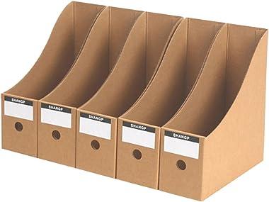 LoKauf 5pcs Boîte de Rangement Documents en Papier Dur Organisateur de Papier Bureau