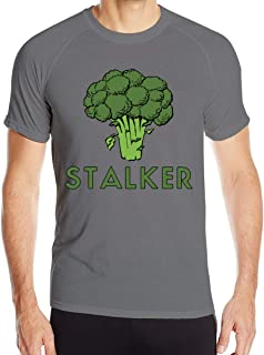 Men's Short Sleeve T Shirts Print with Stalker Funny Broccoli Fun Humor Pun Wicking Round Neck T-Shirts