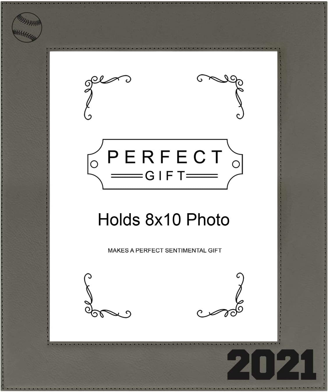 ThisWear Large Photo Frame Ranking TOP17 Baseball 2021 ! Super beauty product restock quality top! 8x10 Leatherette