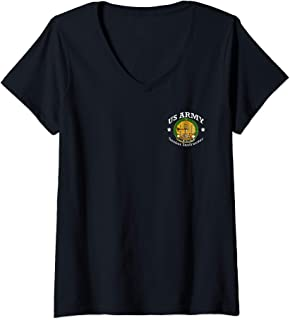 Womens Army Senior Instructor Badge Shield V-Neck T-Shirt