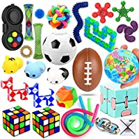 28 Pack Sensory Toys Set, Relieves Stress and Anxiety Fidget Toy for Children Adults, Special Toys Assortment for...