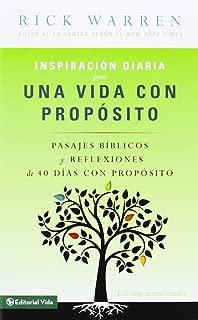 Inspiración diaria para una vida con propósito (Spanish Edition)