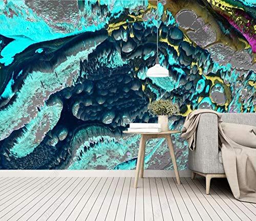 Papel Pintado Pared 3d Salon Dormitorio Decoración de Pared Tinta De Acuarela Azul Fotomurales Decorativos Murales Pared Papel-250cmx175cm