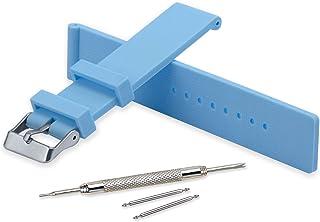 Vinband Bracelet Montre Imperméable Remplacer Silicone Bracelet Montre Homme Femme Noir Doux - 18mm, 20mm, 22mm, 24mm Caou...