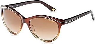 الولايات المتحدة الأمريكية البولو نظارة شمسية كبيرة الحجم اطار بني وعدسات متدرجة 732 لون بني