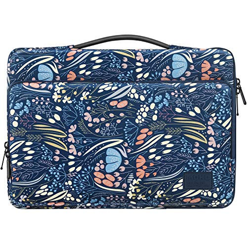 MoKo Laptop Carrying Sleeve Bag, Protective Accessory Case Fits with Macbook Pro 13.3' 2020/2009-2012, Macbook Air 13.3' 2020 / Air Retina 13.3' 2018, iPad Pro 12.9 2020, Surface Book 3, Night Blue