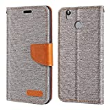 Oukitel U7 Plus Case, Oxford Leather Wallet Case with Soft