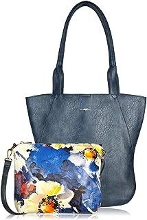 ESPE Jess Vegan Faux Leather Ladies 2-in-1 Handbag with Floral Minibag