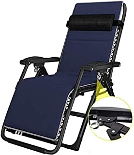 Recliner FGVDJ Sun Loungers Lounge Chairs Sun Lounger/Folding Comfort Sling Chair Recliner Zero Gravity with Headrest Outd...