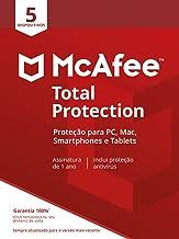 McAfee Total Protection 5 Antivírus – Programa premiado de proteção contra ameaças digitais, programas não desejados, mult...