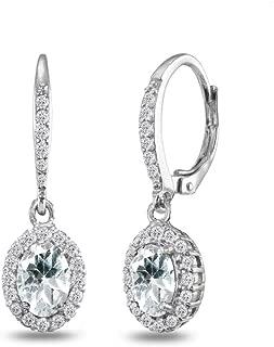 Best dangle aquamarine earrings Reviews
