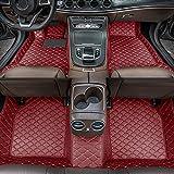 Alfombrillas de Coche para Mercedes Benz AMG GT 5seat 2019-2020 Antideslizantes Impermeable Rodeado Completo Protección para Todo Clima Revestimientos De Alfombra De Cuero Alfombrilla (Vino Rojo)