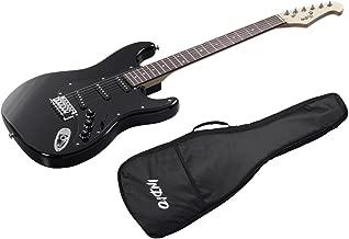 Monoprice Indio Cali Classic Electric Guitar - Black, With Gig Bag