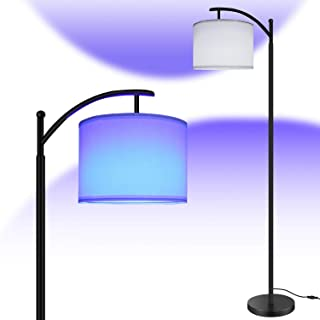Bomcosy RGB Floor Lamp for Living Room & Bedroom, 64in LED Bright Standing Lamp with Shade and...