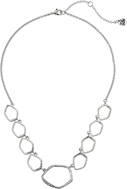 Open Pave Collar Necklace 16""