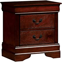Furniture of America Louis Philippe III Cherry Nightstand