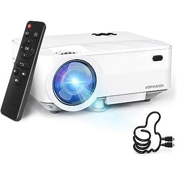 """HOPVISION Mini Proiettore 1080P Full HD,Video Proiettore Portatile 5000 Lumen con Display da 240"""",Proiettore LCD per 60000 ore,Compatibile con HDMI/AV/USB/SD/VGA"""