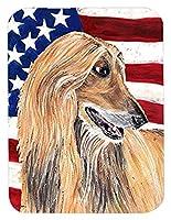 Caroline's Treasures Afghan Hound USA Patriotic American Flag Mouse Pad/Hot Pad/Trivet (SC9506MP) [並行輸入品]