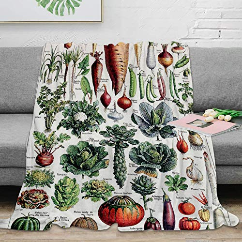 BAIYANGYANG Manta de Tiro Adolphe Millot Légumes Pour TousPóster Vintage francés Manta de Tiro Manta de Microfibra Suave y cálida