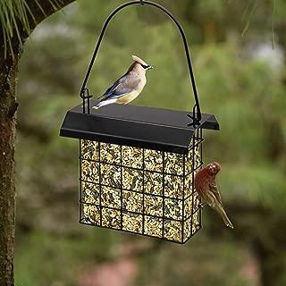 FORUP Suet Bird Feeder, Hanging Suet Feeder, Single Suet Cake Bird Feeder, One Suet Capacity