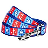 Blueberry Pet Durable Classy Bon Voyage Nautical Ocean Harbor Designer Dog Lead 150 cm x 2cm, Medium, Leads for Dogs, Matching Collar & Harness Available Separately