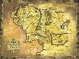 Poster de tamao gigante 'El Seor de los Anillos' Mapa de la Tierra Media (135,5cm x 98cm)