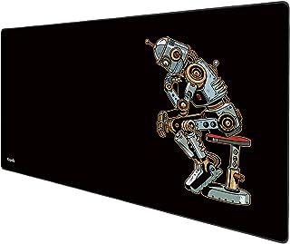 Anpollo Alfombrilla Gaming 900x400x3mm Alfombrilla Raton Ordenador XXL Alfombrilla Raton Base para Mesa Grande Negro Robot