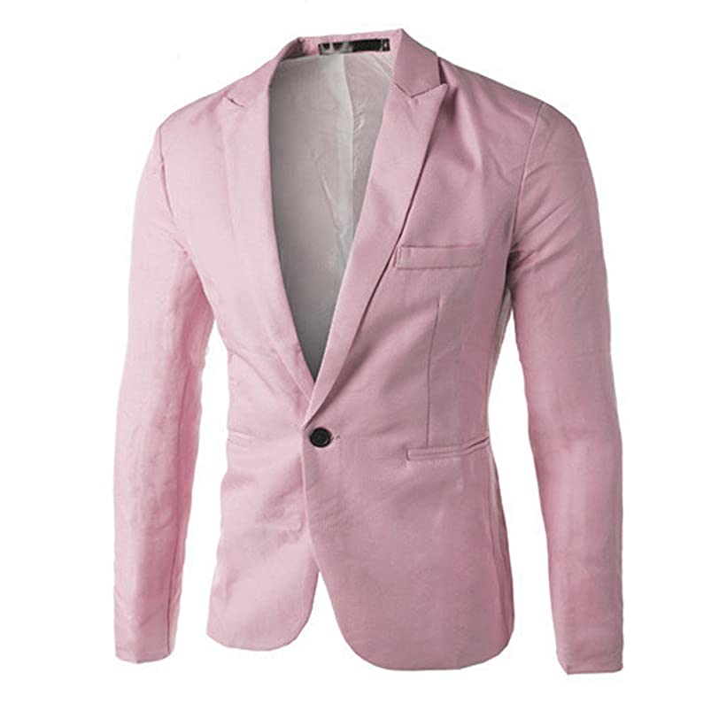 GOVOW Suits for Men Classic Fit Charm Casual Loose Soft Slim One Button Blazer Coat Jacket Tops dmghwman857899