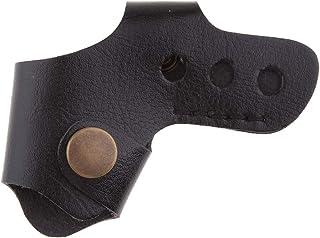 Homyl Capa universal de couro de poliuretano para motocicleta, capa de câmbio, protetor de bota de sapato – preta