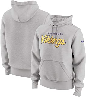 Nike Men's Minnesota Vikings Specialty Script Pullover Hoodie Heathered Gray Size XL