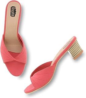 esparty Women's Fancy Block Heel Sandals Look