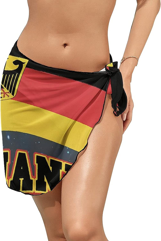 Yiaoflying Women Beach Wrap Skirts, Germany Chiffon Swimsuit Cover Ups Sexy Short Sheer Sarong Pareo