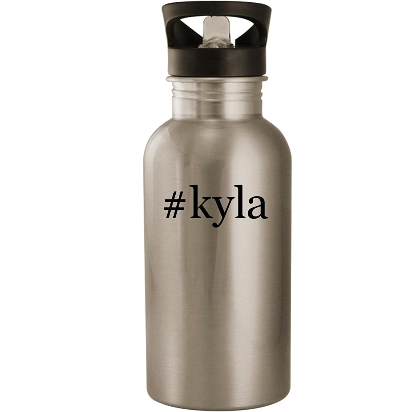 #kyla - Stainless Steel Hashtag 20oz Road Ready Water Bottle, Silver