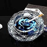 Cendrier pour cigares - Simple et moderne Grand tendance à la mode européenne Cendrier Salon pratique Décoration, Mini Transparent 10 cm, Couleur: Transparent 20cm ( Color : 15cm (Pictorial Message) )