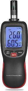 KK moon デジタル温度湿度計 LCD 温度湿度計 小型 乾湿計 湿球 露点 温度 最大/最小/データホールドモード