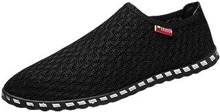 Soldes Homme Mocassins en Cuir Noir Conduite Large,Overdose Hiver Automne Mode Chaussures /à Enfiler Casual Workwear Costume Plates Flat