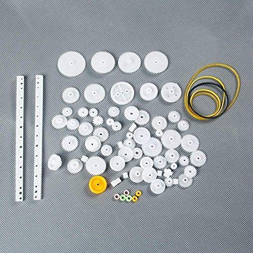 DollaTek 75 Gears of Plastic Package Motor Gear lackage Robot Accessories tech DIY