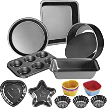 20 Pcs Oven Bakeware Baking Set Bread Loaf Pan Baking Set with Muffin Tray Kitchen Non-Stick Bakeware Set with Round Cake ...