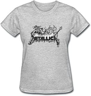 Tommery Metallica Custom Photo DIY Logo Design Cotton Women's T-Shirt XXL