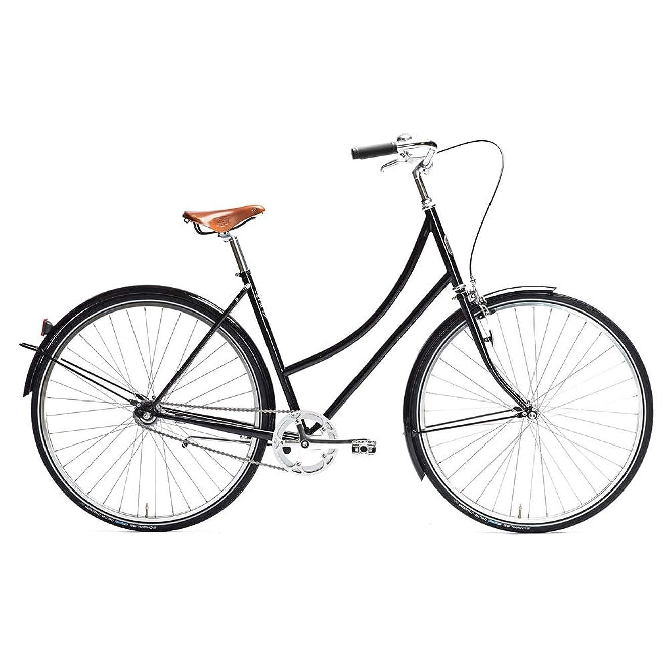 ブラシ日付付き強盗Pelago ペラゴ Brooklyn ブルックリン Black 3S 45mm【自転車】【3段変速】【クラシック】【コミューター】