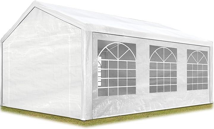 Tendone per feste gazebo 3x6 m bianco pe ca. 180 g/m² impermeabile protezione uv toolport B07B61Z4Z1