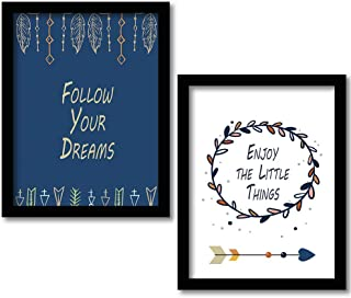 Rainbow Arts - Motivational Quotes Framed Wall Posters / Paintings for Home Living Room Bedroom Office Wall Decor - Framed...