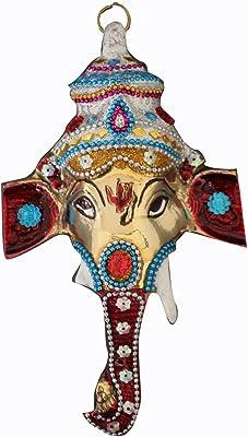 DEKOR WORLD Colorful Ganesha(20X12cmMulti)